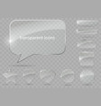 set of transparent icons vector image vector image