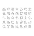 set simple icons health and beauty