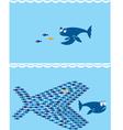 small fish vector image