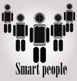 smart robot logo template cute logotype isolated vector image vector image