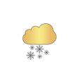 snowfall computer symbol vector image vector image