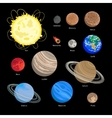 Solar system planet icons vector image