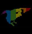 spectrum dot lgbt north america map vector image vector image