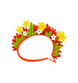 speech bubble with flowers empty thought bubble vector image vector image