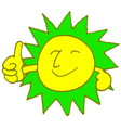 sun smile with color vector image vector image