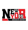 T shirt New York Brooklyn district vector image