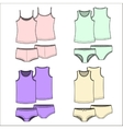 T-shirts and underwear Color vector image vector image