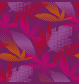 tropical leaves color seamless pattern vector image