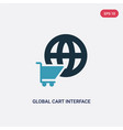 two color global cart interface icon from user vector image vector image