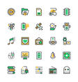 User Interface and Web Colored Icons 10 vector image vector image