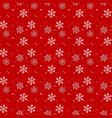 white and gray snowflakes on red background vector image vector image