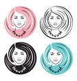 Woman with stylish hairstyles vector image