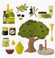 olive colored isolated olives products branch vector image