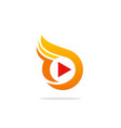 play button digital media logo vector image