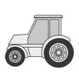 single tractor icon vector image