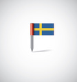 sweden flag pin vector image