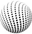 abstract halftone globe design vector image