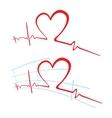 EKG of love vector image