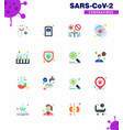 16 flat color coronavirus epidemic icon pack suck