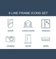 6 frame icons vector image vector image