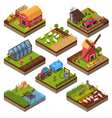 Agricultural Compositions Isometric Set vector image vector image