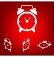 Alarm clock set Isometric effect vector image vector image