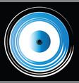 artistic blue evil eye on black background vector image vector image