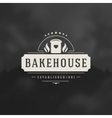 Bakery Shop Logo Design Element vector image vector image