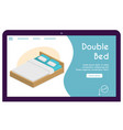 banner double bed in isometric view vector image