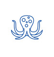 big octopus line icon concept big octopus flat vector image