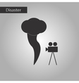 black and white style icon tornado camera vector image