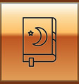 black line holy book koran icon isolated on vector image vector image