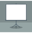 Boardroom with Standing White Board Business vector image