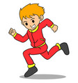 boy running character style design vector image vector image