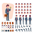 businessman constructor creation of male vector image