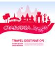 cambodia travel destination vector image vector image