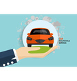 Car insurance business service concept of i vector image vector image