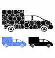 cargo composition icon circles vector image vector image