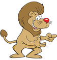 Cartoon lion pointing vector image vector image