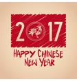 chinese new year 2017 letter rooster vector image