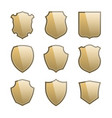 coat of arms shields icon set vector image vector image