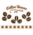 coffee beans set vector image vector image