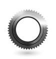 cogwheel realistic metal textured icon vector image