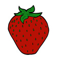 comic cartoon strawberry vector image vector image