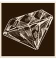 Diamond vintage vector image vector image