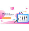 different occupation character on tablet monitor vector image vector image