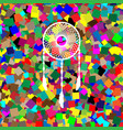 dream catcher sign white icon on colorful vector image vector image