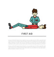 first aid emergency vector image