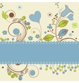 Floral design with space for text vector image vector image