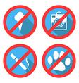 Forbidding Signs No Dog or Pets No Ice-cream No Sm vector image
